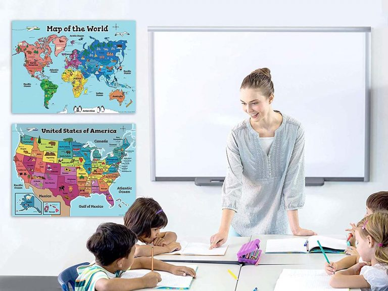 Best Map Of The World For Kids – Kid's World & USA Map Toys