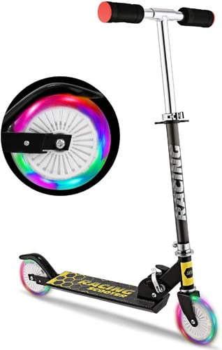 WeSkate Scooter for Kids with LED Light Up Wheels